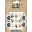 TH93697 Tim Holtz® Idea-ology™ Metal Jeweled Charms 4/Pkg